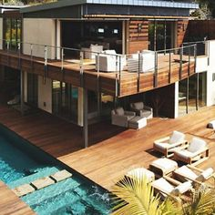 Container House - Container House - Modern house ⚜ - Who Else Wants Simple Step-By-Step Plans To Design And Build A Container Home From Scratch? - Who Else Wants Simple Step-By-Step Plans To Design And Build A Container Home From Scratch? Style At Home, Design Exterior, Casas Containers, Building A Container Home, Container Homes, Container Design, Bungalows, Pool Houses, House Goals