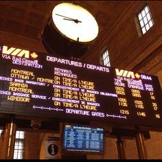 Souvenir de la Gare centrale de Toronto..