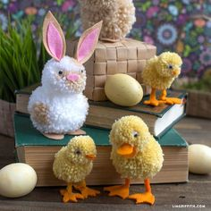 Follow our tutorial to make a set of adorable yarn pom pom farm animals. This is a fun kids craft to make on Easter, or as an everyday craft activity!