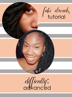 Fake Locs tutorial on the site! [www.masquemag.com]