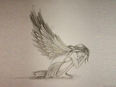 Free Designs  Sad Angel Tattoo Wallpaper picture 3150
