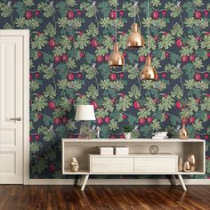 Fornasetti Wallpaper, Cole And Son Wallpaper, Toilet Room, Home Living Room, Decoration, Game Room, New Homes, House Styles, Wallpapers