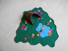 "Fairy Play Mat. About 25"" by 28"". Fairy Garden. Fairy Tale. Felt. Eco-Friendly. READY TO SHIP. on Etsy, $34.00"