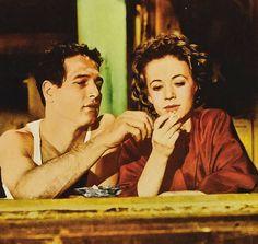 """Paul Newman y Piper Laurie en """"El Buscavidas"""" (The Hustler), 1961"""