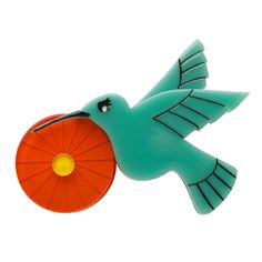 Limited edition Erstwilder Humble Hummingbird brooch by Louisa Camille. $29.95