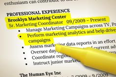 Resume with highlighter