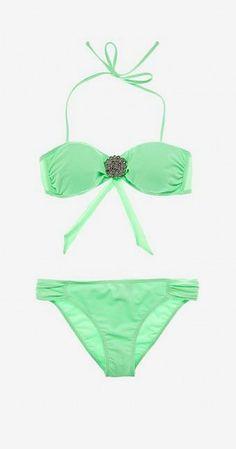 Green Bandeau Bikini Jamie