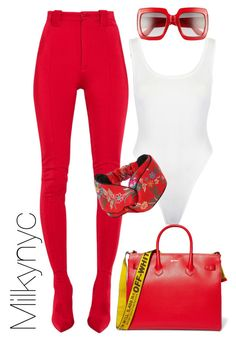 """""""Untitled #1003"""" by milkynyc ❤ liked on Polyvore featuring Balenciaga, Gucci and Off-White"""