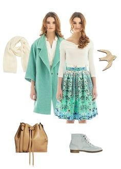 #Skirt and #coat by #Libellulas, #bag and #boots by #ASOS, #broach by #Glaz, #scarf Bino Tiani