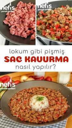 Nefis Sac Kavurma - Parmak Yedirten Lezzet - Nefis Yemek Tarifleri - Et Yemekleri - Gurme Turkish Recipes, Italian Recipes, Turkey Today, Turkish Sweets, Grand Kitchen, Turkish Kitchen, Pasta, Fresh Fruits And Vegetables, Iftar