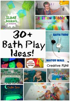 A collection of creative and super fun bath ideas for young children! There are so many ways to use the bath for play!