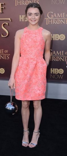 Maisie Williams In Markus Lupfer – 'Game of Thrones' Season 5 Premiere
