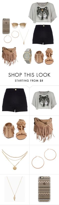 """""""Sem título #1526"""" by bea-alvrz ❤ liked on Polyvore featuring River Island, Wildfox, Qupid, Nine West, Jennifer Zeuner, Casetify and Oliver Peoples"""