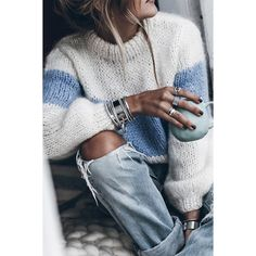 Winter Fashion Casual, Autumn Fashion, Winter Style, Pull Mohair, Estilo Glamour, Foto Casual, Women's Casual, Vogue Knitting, Mohair Sweater