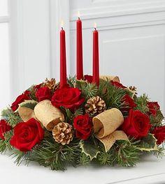 Christmas Flowers - The FTD Celebration Of The Season Centerpiece