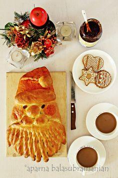 My Diverse Kitchen: When Santa Joined Us For Tea - -Golden Santa Bread!