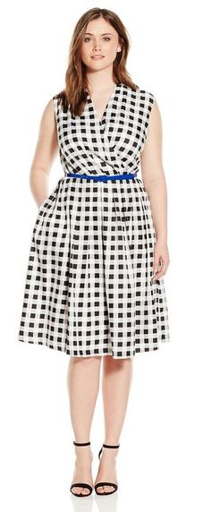 Let's get started with basics and find the perfect plaid dress that will flatter your curves and all the right ways to adopt them. Plus Size Dresses, Plus Size Outfits, Nice Dresses, Plus Size Fashion For Women, Curvy Women Fashion, Plaid Dress, Dress Up, 10 Item Wardrobe, Plus Size Looks