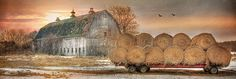 Sunset-on-the-Farm-Lori-Deiter12x36-inch-Framed-or-Unframed-Picture-Print-Art