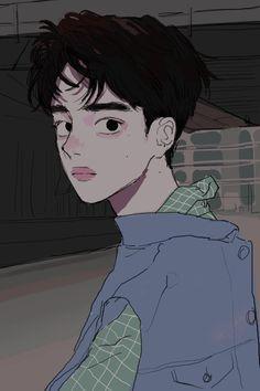 B o y s d r a w i n g s in 2019 anime art, art, aesthetic art. Aesthetic Anime, Aesthetic Art, Pretty Art, Cute Art, Art Sketches, Art Drawings, Kpop Anime, Arte Indie, Character Art