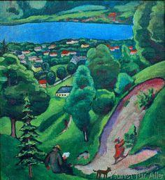 August Macke - Landschaft am Tegernsee