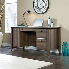Sauder Shoal Creek Computer Desk in Diamond Oak *** Find out more about the great product at the image link.Note:It is affiliate link to Amazon.