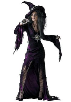This Sorceress Costume is a great women's wizard costume for Halloween. Turn this sorceress costume into a Bellatrix Lestrange costume from Harry Potter. Wizard Costume, Witch Costumes, Scary Halloween Costumes, Adult Halloween, Halloween Party, Halloween Witches, Women Halloween, Costume Dress, Vintage Halloween