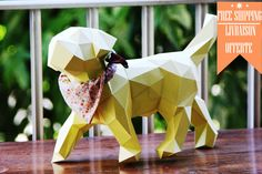 Skulptur eines kleinen Hundes / Welpen Papier do von SculPaperShop