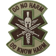 Do No Harm Spartan Tactical Medic MultiCam (OCP) Patch Description: Wear your Mil-Spec Monkey patches in the field or just for fun. The hook-and-loop ba. Army Medic, Combat Medic, Tactical Medic, Tactical Patches, Norse Tattoo, Viking Tattoos, Shoulder Armor Tattoo, Fire Badge, Morale Patch