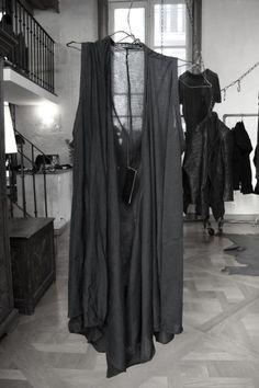 black drape fashion