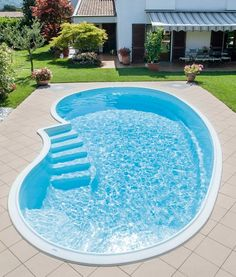 pool im garten ideen Glamorous Garden Design Ideas With Swimming Pools Finished pool: the quick Pool solution S Small Inground Pool, Small Swimming Pools, Small Backyard Pools, Backyard Pool Landscaping, Backyard Patio Designs, Small Pools, Swimming Pools Backyard, Swimming Pool Designs, Landscaping Ideas