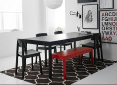 IKEA Fan Favorite: SIGURD bench. This fan fave was made to fit the TRANETORP dining table, but it looks great in any room of your home!
