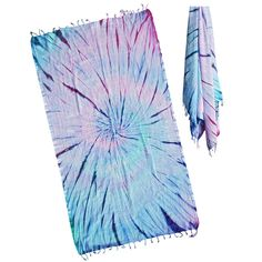 One of a kind unique gorgeous tie dye turkish towel made by loopys