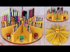 What an Creative Pen Stand Diy Crafts Hacks, Diy Crafts For Gifts, Diy Home Crafts, Diy Arts And Crafts, Creative Crafts, Crafts For Kids, Summer Crafts, Best From Waste Ideas, Cardboard Crafts