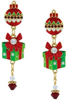 457862778 Lunch at The Ritz 2GO USA Tis The Season Earrings * Click image for more  details. Christmas ...