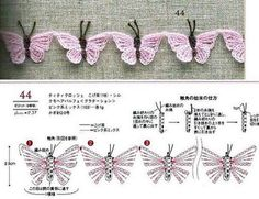 Коллекция бабочек. Вязание крючком / Вязание крючком / Вязаные крючком аксессуары