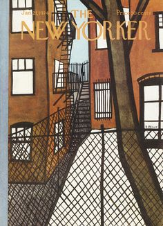 size: Premium Giclee Print: The New Yorker Cover - January 1974 by Donald Reilly : The New Yorker, New Yorker Covers, Thing 1, Spring Landscape, January 21, Winter Scenery, Gradient Color, Cover Art, Vivid Colors