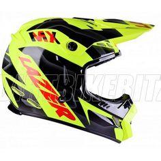 2013 Lazer Smx Motocross Helmets - Mx8 Pure Glass Geopop Flou Yellow - 2013 Lazer Motocross Helmets - 2013 Motocross Gear