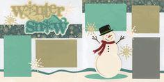 Winter Snow Page Kit