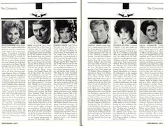 FOLLIES ~ Juliet Prowse, John Cullum Marilyn Maye, Harvey Evans, Patrice, Munsel, Licia Albanese Performing Arts Magazine, Houston 1987