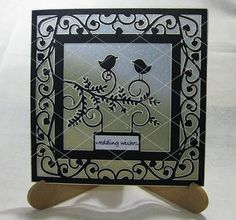 Love Birds Card template Romance Wedding Engagement Invit on Craftsuprint - Add To Basket!