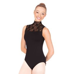 Black&lace leotard-Discount Dance Supply