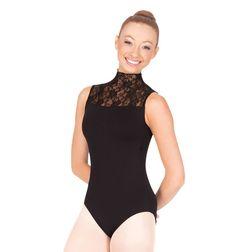 Black&lace leotard-Discount Dance Supply