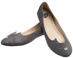 Grey Sophistakitty Flats   T.U.K. Shoes