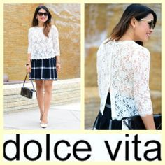 Dolce Vita $50 Deidra ivory lace top sz.S #buynow www.tpopshop.nyc #DolceVita