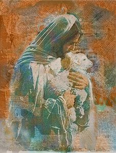 """The Good Shepherd by Michael Dudash. """"My sheep listen to my voice; I know them, and they follow me."""" John 10:27"""
