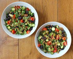 Olive, Pine Nut and Zucchini Salad | Deliciously Ella