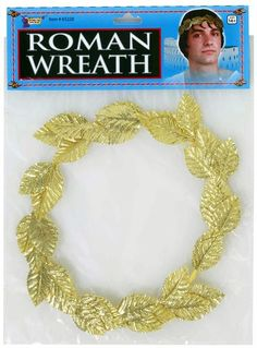 Halloween Forum Novelties Roman Gold Leaf Wreath Headpiece Costume Accessory, Men's – Laurel Wreath İdeas. Greek Toga, Gold Leaf Crown, Halloween Forum, Adult Halloween, Laurel Leaves, Thing 1, Goddess Costume, Laurel Wreath, Greek Wedding