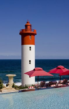 Umhlanga Rocks Lighthouse from the Oyster Box Hotel by Marc Mosthav, via 500px