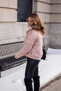 the best pink puffer jacket (currently on sale)! Winter Looks, Puffer Jackets, Winter Jackets, Instagram Feed, Couture, Coat, Blog, Pink, Stuff To Buy