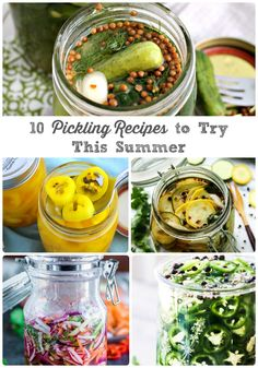 Savor that fresh garden goodness just a little bit longer with these 10 Pickling Recipes You Need to Try This Summer. Dinner Recipes Easy Quick, Lunch Box Recipes, Veggie Recipes, Summer Recipes, Appetizer Recipes, Healthy Recipes, Appetizers, Top Recipes, Canning Recipes